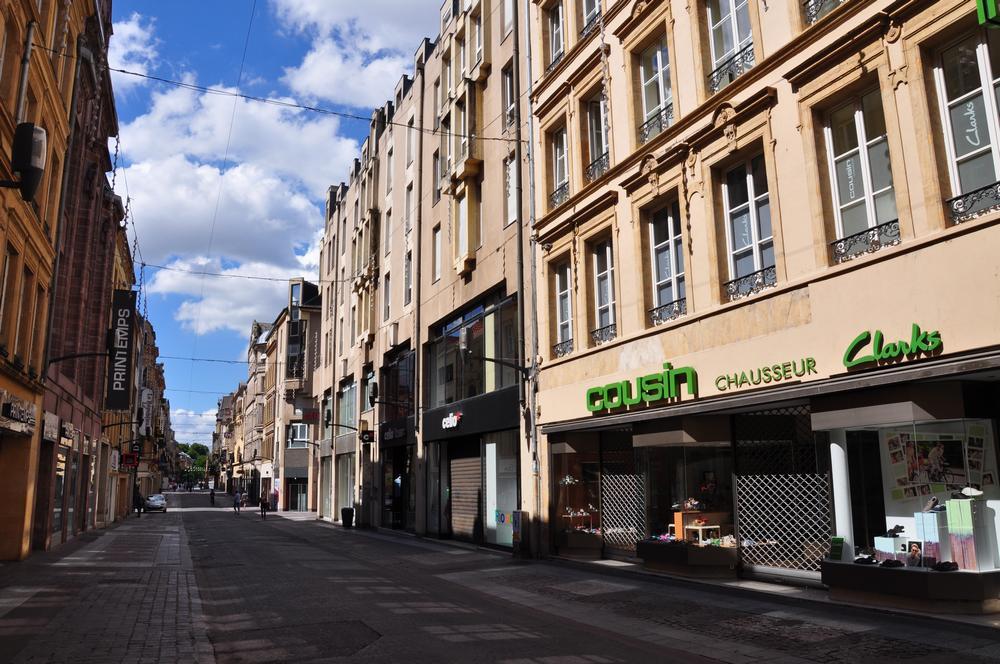 rue piétonne à Metz